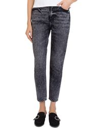 The Kooples - Sequin-hearts Cropped Jeans In Washed Black - Lyst