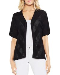 Vince Camuto - Pointelle Stripe Open-front Cardigan - Lyst