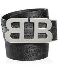 Bally Mirror B Reversible Belt - Black