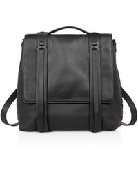 AllSaints Fin Convertible Leather Backpack - Black