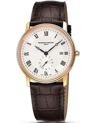 "Frederique Constant - Frédérique Constant ""slim Line"" Quartz Watch, 39mm - Lyst"