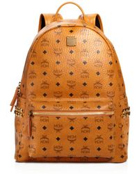 MCM Stark Side Stud Backpack - Brown