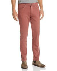 PAIGE - Lennox Slim Fit Jeans In Dusted Rose - Lyst