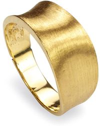 Marco Bicego | 18k Yellow Gold Engraved Lunaria Small Band Ring | Lyst