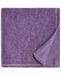 Bloomingdale's - Circle Medallion Wool Pocket Square - Lyst