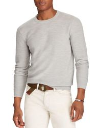 aea634737a5be Lyst - Polo Ralph Lauren Cotton Jersey Shawl Pullover in Green for Men