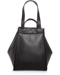 Max Mara - Large Reversible Leather & Cashmere Tote - Lyst