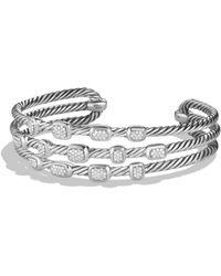 David Yurman - Confetti Narrow Cuff Bracelet With Diamonds - Lyst
