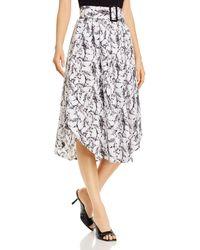 T Tahari Belted Horse Print Skirt - Multicolour