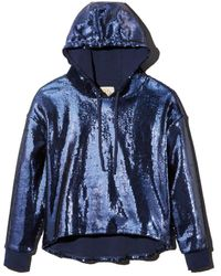 Chaser Sequined Hooded Sweatshirt - Blue