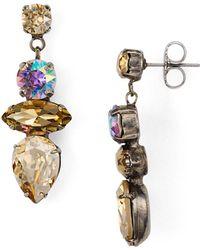 Sorrelli - Stacked Stone Drop Earrings - Lyst