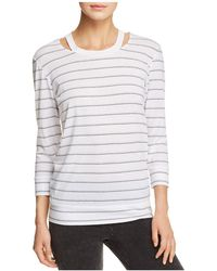 Marc New York - Performance Striped Cutout Top - Lyst