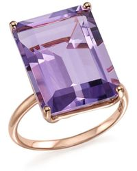 Bloomingdale's - Amethyst Statement Ring In 14k Rose Gold - Lyst
