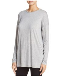 Lafayette 148 New York - Long Sleeve Tissue Knit Top - Lyst