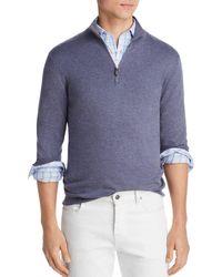 Bloomingdale's Quarter - Zip Sweater - Blue