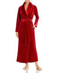 Natori Natalie Velvet Robe - Red