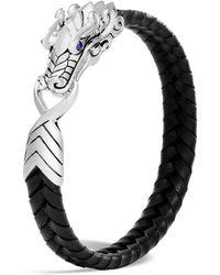 John Hardy Men's Legends Naga Dragon Leather Dragon Bracelet - Black