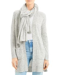 Theory Clover Cashmere Donegal Knit Scarf - Grey