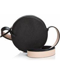 Aqua - Small Round Leather Crossbody - Lyst