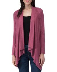 B Collection By Bobeau Amie Waterfall Cardigan - Multicolor