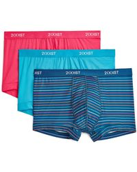 2xist 2(x)ist Micro Speed Trunks - Pack Of 3 - Blue