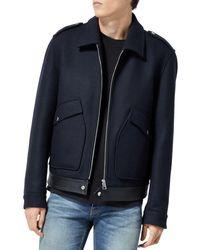 The Kooples Navy Zipper Jacket - Blue