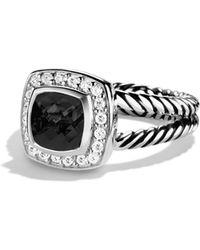 David Yurman | Petite Albion Ring With Black Onyx & Diamonds | Lyst