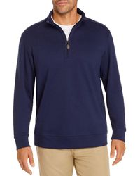 Tommy Bahama Martinique 1/2 Zip Jumper - Blue
