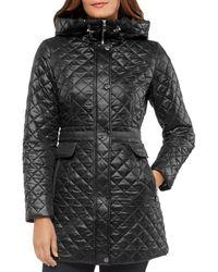 Kate Spade Hooded Quilted Jacket - Black
