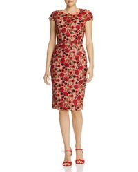 Bronx and Banco - Della Rouge Embroidered Floral Sheath Dress - Lyst