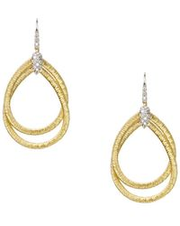 Marco Bicego | 18k Yellow Gold Cairo Drop Earrings With Diamonds | Lyst