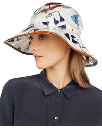 Tory Burch Printed Rain Bucket Hat - White