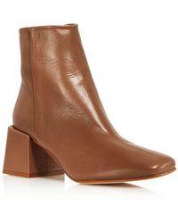 LOQ - Women's Lazaro Almond Toe Leather Mid-heel Booties - Lyst