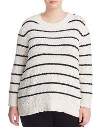 Vince Camuto Signature - Striped Chenille Sweater - Lyst