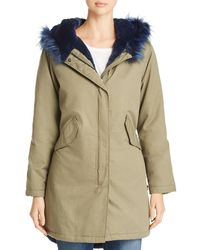 Kenneth Cole - Faux-fur Trimmed Anorak - Lyst