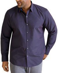 Zachary Prell Mccune Classic Fit Long - Sleeve Shirt - Blue
