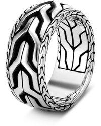 John Hardy Men's Classic Chain Asli Silver Band Ring - Metallic