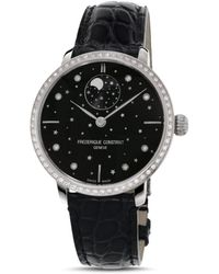 Frederique Constant Slimline Moonphase Stars Watch - Black
