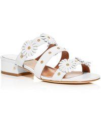 Laurence Dacade Women's Anouk Embellished Block - Heel Side Sandals - White