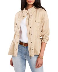 Vince Camuto Cinch Waist Jacket - Natural