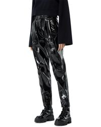The Kooples Faux Leather Trousers - Black