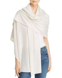 C By Bloomingdale's Cashmere Travel Wrap - White