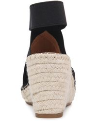 Gentle Souls by Kenneth Cole Charli Ankle Strap Espadrille Wedge Sandals - Black
