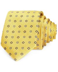 Bloomingdale's The Store At Bloomingdale's Floral Medallion Neat Silk Classic Tie - Yellow