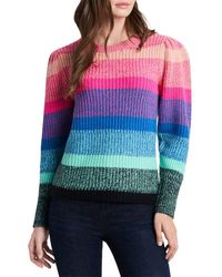Vince Camuto Long Sleeve Color Blocked Sweater - Pink