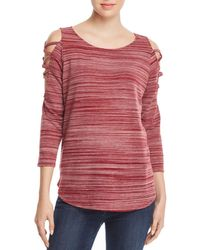 Status By Chenault - Space - Dyed Strappy Cutout Top - Lyst