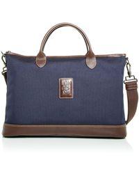 Longchamp Boxford Nylon Briefcase - Blue