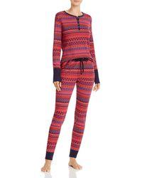 Splendid Cosy Thermal Pyjama Set - Red
