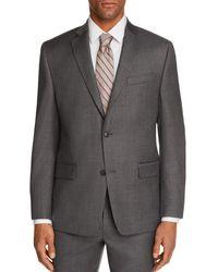 Michael Kors Sharkskin Classic Fit Suit Jacket - Gray