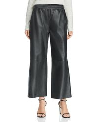 French Connection - Alia Wide-leg Leather Trousers - Lyst
